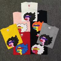 Wholesale Cartoons Artist - 17FW S Gonz Ramm Tee Box Logo Sausage Mouth Duckbill Cartoon Artist T-Shirt Doodle Hip Hop Men Women Couple Tee HFYTTS006