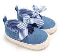 Wholesale Striped Maternity - Jessie store V2 Solid Bow-knot Crib Bebe Striped Baby, Kids & Maternity Shoes $99 version