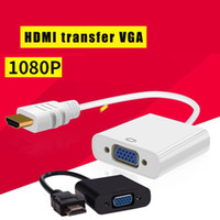 cable de video vga al por mayor-Los fabricantes suministran directamente 1080P HDMI macho a VGA Cable de video hembra Cable adaptador convertidor 1080P para PC HDMI a adaptador de cable VGA Convet