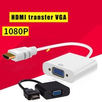 vga video kablosu toptan satış-Üreticiler doğrudan tedarik 1080 P HDMI Erkek VGA Kadın Video Kablosu kablosu Dönüştürücü Adaptör 1080 P PC HDMI VGA adaptör kablosu Convet