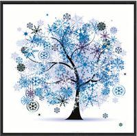 árvore de pintura diamante diy venda por atacado-Cozy feliz árvore diy pintura diamante 5d estilo europeu strass mosaico de ponto cruz multi cor romântico mobiliário de decoração de casa 9tz z