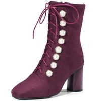 botas us14 venda por atacado-Botas de camurça Botas de camurça outono e inverno Extra Large Ankle Boots
