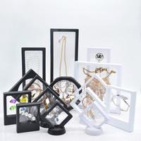 caixas para anéis venda por atacado-Suspenso Flutuante Display Case Anel de Jóias Pingente Display Stand Titular Bague Embalagem Caixa Proteger Caso Apresentação Flutuante