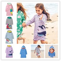 langhaarkleider großhandel-5 Arten Mädchen Partei Prinzessin Kleid mit Kapuze Kappe Langarm Baby Mädchen Jersey Kleid Kleidung für Kinder Kleidung
