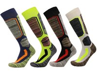 Wholesale thermal soccer - Custom Logo Winter Warm Men Women Thermal Long Ski Socks Thicker Cotton Sports Snowboard Climbing Camping Hiking Socks G523S