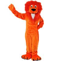 fotos de muñecas reales al por mayor-Disfraces de mascota de Orange Lion muñecas de dibujos animados ropa de pantalla real 008