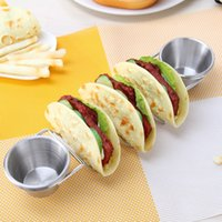 Wholesale corn gadget for sale - Group buy Stainless Steel Taco Holder Pizza Rack Corn Rolls Display Stand Kitchen Gadget Restaurant Food Holders Show Tool With Cup tc jj