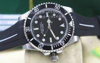 Wholesale Crystal B - Men's Sport Watches Automatic No Date Rubber B Strap Watch Men Rotating Ceramic Bezel Dive Black 114060 Crystal Sport Luminous Wristwatches