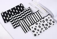 Wholesale pen stripe for sale - Group buy Stripe Pencil Bag Pocket School Cosmetic Make Up Pencil Pen Organizer Bag Case Pouch Office School Supplies