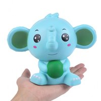 Wholesale music arts online - New Pu Decompression Soft Toy Slow Rebound Simulation Squishy Blue Elephant Imilation With Fragrance Squeeze Arts And Crafts mz W