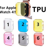 Wholesale soft touch watches resale online - for Apple Watch Case TPU cover mm mm D Touch Ultra Clear Soft TPU Cover shell Apple iwatch Screen Protector Cases