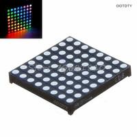 exibição de matriz de pontos led venda por atacado-Matriz 8x8 RGB LED Full Color Dot Display Quadrado 60x60mm Anodo Comum Z09 navio da gota