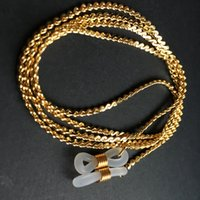 Wholesale eyeglass neck chains resale online - gold or silver electro plated eyeglass brass copper neck chains sunglass frame neck holder spectacle string