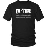 ingrosso migliori camicie maschili-Fa Thor Shirt Like A Dad Just Way Cooler Maglietta Father's Day Best Dad Marca Cotton Men Abbigliamento Uomo Slim Fit T Shirt