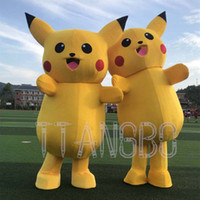 mascote real venda por atacado-Top imagem real Pikachu Traje Da Mascote Anime Traje Fancy Dress Natal Festa Do Dia Das Bruxas Terno