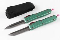 ingrosso pietre all'aria aperta-Offerta speciale A6 Lama tattica automatica D2 Stone Wash Blade Green T6061 Maniglia in alluminio Outdoor EDC Coltelli tascabili Gift Knife