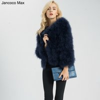 83c820585bf Jancoco Max S1002 Women 2017 Real Fur Coat Genuine Ostrich Feather Fur  Winter Jacket Retail Wholesale Top Quality