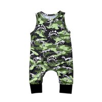 Wholesale rompers for boy toddlers - 2018 New Baby Boy Clothes Infant Toddler Baby Rompers Newborn Boys Girls Dinosaur Printing Jumpsuit Sunsuit Outfits Kids Clothing for Boys