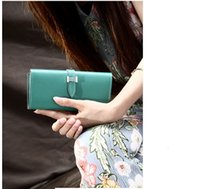 Wholesale Wholesale Factory Dresses - Factory Wholesale Female Version Tide with Drawstring Purse Large Capacity More Than Fashion for Female Long Wallet Women Money Clips