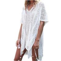 Wholesale robes plage for sale - 2018 New Arrivals Sexy Beach Cover up White Crochet Robe de Plage Pareos for Women Swim Wear Saida de Praia Beachwear Coverups