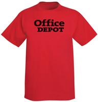 büroumwelt großhandel-OFFICE DEPOT Supply Store T-Shirt Mens 2018 Modemarke T-Shirt O-Ausschnitt 100% Baumwolle T-Shirt Tops T benutzerdefinierte Umwelt