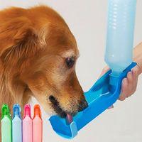 ingrosso serbatoio di irrigazione portatile-250ml all'aperto portatile Pet Dog bottiglie di acqua pieghevole serbatoio di design bere ciotola di viaggio dispenser