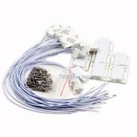 draht-fenster-sensor großhandel-100Pcs Wired Fenster Magnetkontakt Sensor Detektor Fenster Sensor Magnetschalter Home Alarm System normalerweise geschlossen Tür Detektor