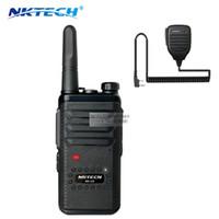 transceptor 3km al por mayor-NKTECH NK-U2 mini Walkie Talkie Boot LED Digital Luminescence Scrambling comparador Ham Transceptor de dos vías de radio VS kd-c1