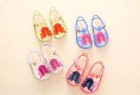 kremalı kız toptan satış-Yeni Çocuklar Mini Bebek Kızlar Için Melissa Jöle Sandalet dondurma Çocuk Yaz Sevimli Karikatür Plaj Ayakkabı Infantil Sandalia