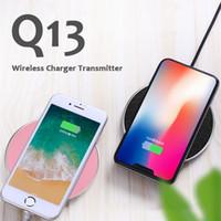cargador qi transmisor inalámbrico al por mayor-Q13 Qi Qi Cargador inalámbrico para iPhone 7 8 Plus Samsung Galaxy S7 S8 con paquete al por menor