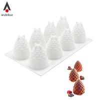 silikonlu dondurma pastası kalıpları toptan satış-Toptan 3D Silikon Kalıplar 8 Delik Kek Içi Muscones Şekil Pişirme Araçları Mousse Dondurma