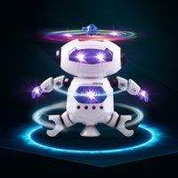 drehbare lichter großhandel-Led-beleuchtung UP Walking Tanzen Roboter brinquedos kinder spielzeug RC Roboter Fernbedienung Linie 4 Muster elektrische turbo 360 grad drehen