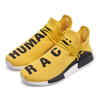 Wholesale human race red shoes - 2018 NEW Pharrell Williams Human RACE HU NMD Trail Mens Designer Sports Running Shoes for Men Sneakers Women Casual Trainers