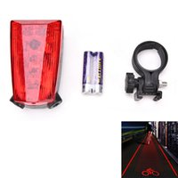 Wholesale Led Projection Logos - 1 Pc 5 LED 2 Laser Bicycle Rear Tail Lamp Cycling Bike Light Warning Bicycle Rear Light Lamp LOGO Projection Version