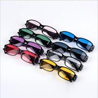 pc okuma lensleri toptan satış-Çok Gücü LED Okuma Gözlükleri Işık lens Gece Görüş yaşlı Gözlük LED aydınlatma Okuma Göz Gözlük