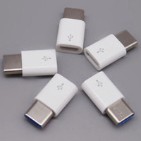 12v ladegerät adapter großhandel-Android Micro USB zu Typ-C USB C 3.1 Typ C Adapter Datenübertragung Ladegerät Adapter Schwarz Weiß Farbe Auto