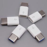 12v şarj cihazı adaptörü toptan satış-Android Mikro USB C Tipi USB C 3.1 Tip C Adaptör Veri İletim Şarj Adaptörü Siyah Beyaz Renk Araba