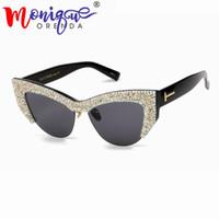 ... Retro Gold big cat eye half Sun Glasses Ladies Female Sunglasses Shades  Points. 36% Off 15f3c4ce21