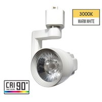 Wholesale head track light online - LED Track Light Head Track Lighting Fixture Integrated CRI90 With K Warm White V W Adjustable Angle Fit H Type Track System White