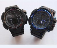 Wholesale led analog watch for men - New GA1100 relogio men's sports watches, LED chronograph wristwatch, military watch, digital watch, good gift for men & boy, dropship