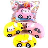 Wholesale stress relief toys for adults for sale - Group buy Super Lovely Cat Car Design Squishy Squeeze Slow Rising Fun Squishies For Relief Adults Office Stress Props Toys sq Z