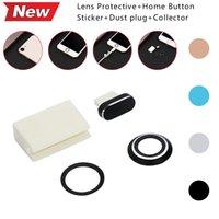 home-button-aufkleber neu großhandel-Stilvolle zarte für 7/8 Objektiv Protective + Home Button Aufkleber + Staubstecker + Collector New # 86