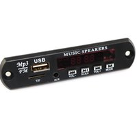 radyo modülleri toptan satış-MP3 Dekoder Kurulu DC 5 V 12 V USB Güç Kaynağı TF FM Radyo Ses Modülü AUX Uzaktan Kumanda Araba için Uzaktan Müzik Hoparlör