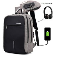 Wholesale Print Laptop - Anti-theft Mens Womens Laptop Notebook Backpack With USB Charging Port