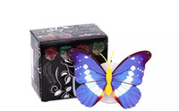 ingrosso luci di natale della farfalla-Colorful 3D Butterfly Party Decorazione natalizia LED Nightlight per bambini Baby Bedroom Small Night Light Lampada regalo luminoso