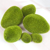 ingrosso giardini diy paesaggistica-Micro Paesaggio Green Grass Figure Decorazione in miniatura per mini giardino fai da te fata Acquario serbatoio di pesci Simulazione statua artigianale