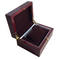 malerei veranstalter großhandel-Red Wood Box Reloj caixa relogio woodgrained boxe Schmuck Display Klavierfarbe Aufbewahrungskoffer Watch Organizer Holz Uhrenbox