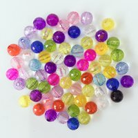 Wholesale 6mm Faceted - 1000Pcs  lot Mixed Colorful 96 FACETED Round Beads 6mm Hot sell Acrylic