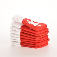 Wholesale Red Dining Tables - 1PCS Santa Christmas Dining Table Knife Fork Restaurant Enfeites Tableware Bags Decoration Sliverware Bag