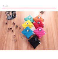 Wholesale Headphone Cute - One-eyed monster zipper zero wallet cute mini earphone package.Zip zero wallet, personalized mini headphones bag.